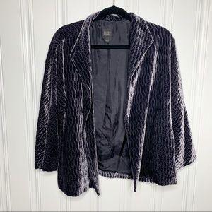 Eileen Fisher Grayish Blue Open Front Jacket Sz L